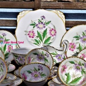 TUSCAN HAND PAINTED  FLORAL TEA SET