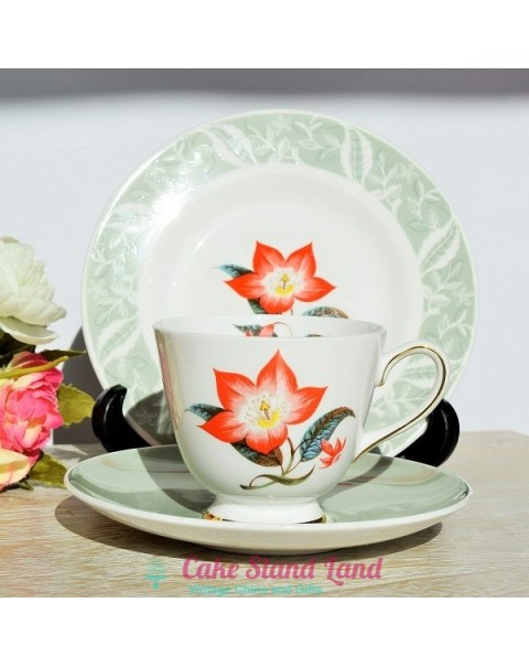 TUSCAN POINSETTIA TEA TRIO