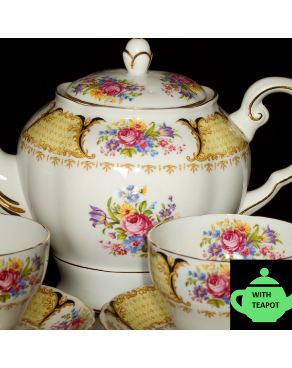 (SOLD) TUSCAN ALBANY TEA SET & TEAPOT FOR 4 OR...