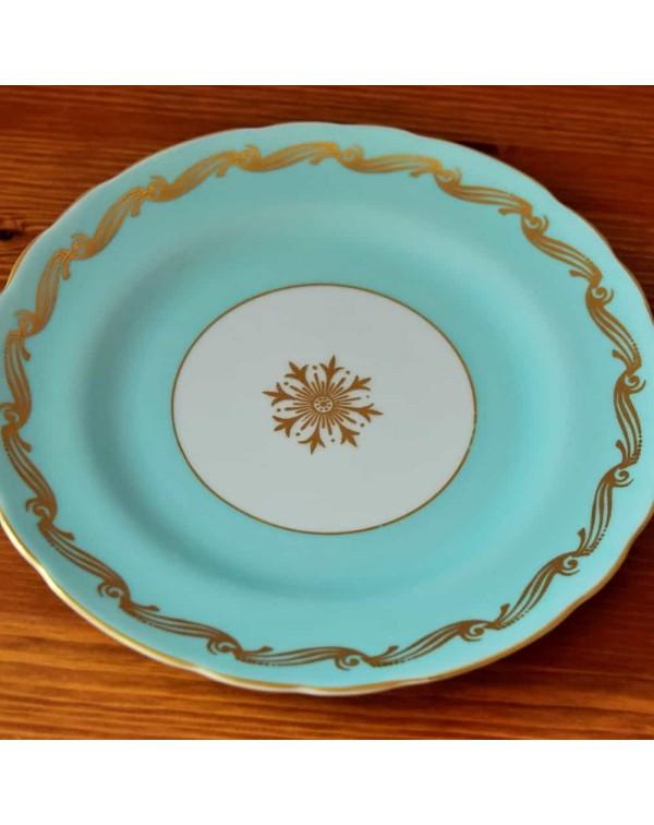 ROYAL TUSCAN DUCK EGG BLUE TEA PLATE