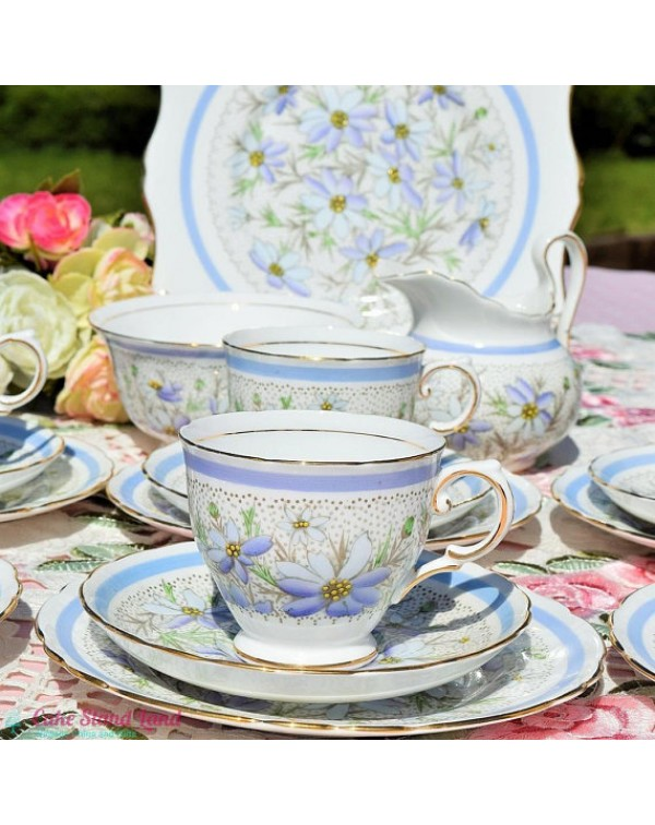 (OUT OF STOCK) TUSCAN CORNFLOWER TEA SET
