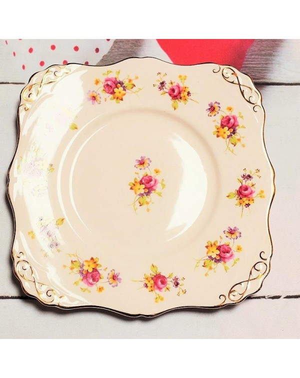 (OUT OF STOCK) TUSCAN BLUSH PINK CAKE PLATE