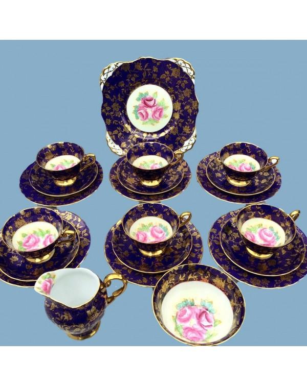 (SOLD) TUSCAN COBALT BLUE TEA SET