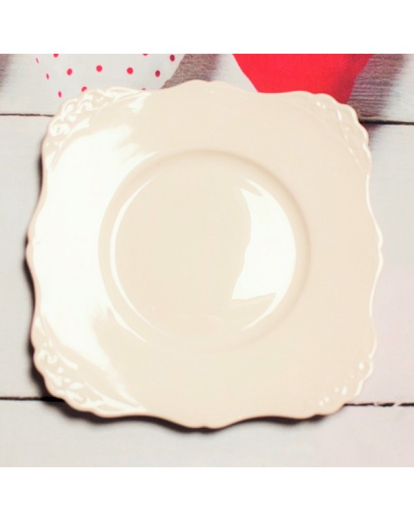 (OUT OF STOCK) TUSCAN PINK CAKE PLATE