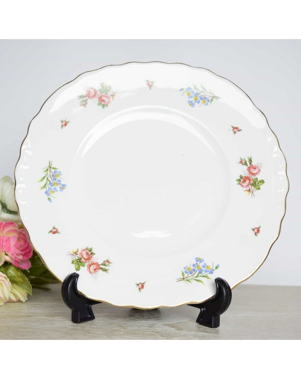 (OUT OF STOCK) ENGLISH FLORAL CAKE PLATE