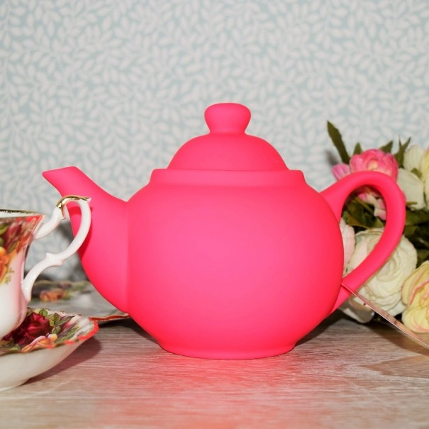 (OUT OF STOCK) BRIGHT FUNKY SHOCKING PINK TEAPOT NEW