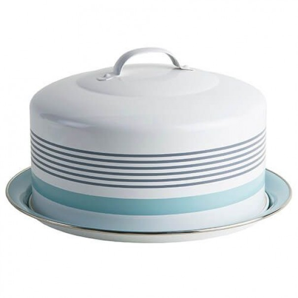 (OUT OF STOCK) JAMIE OLIVER RETRO CARRY CAKE TIN DOME NEW