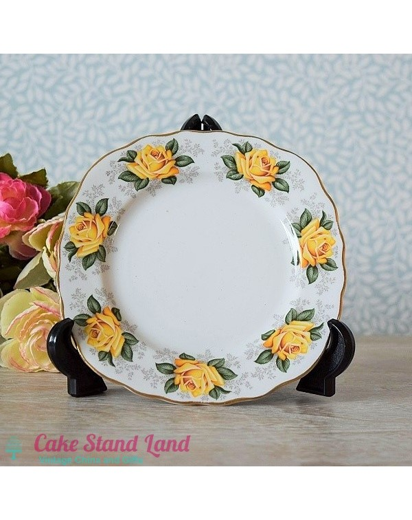 YELLOW ROSES TEA PLATE