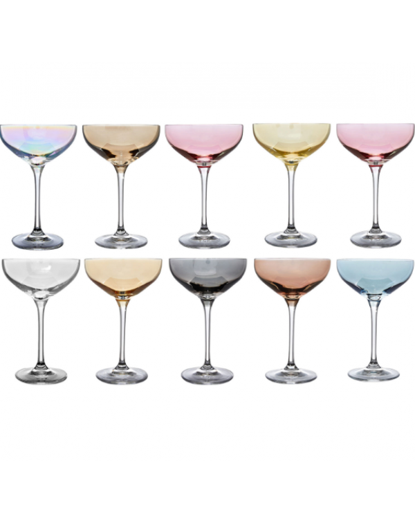 (OUT OF STOCK) TEN CHAMPAGNE SAUCERS NEW