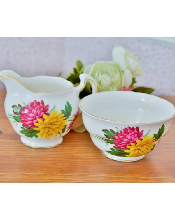 (OUT OF STOCK) CHRYSANTHEMUM MILK JUG & SUGAR ...