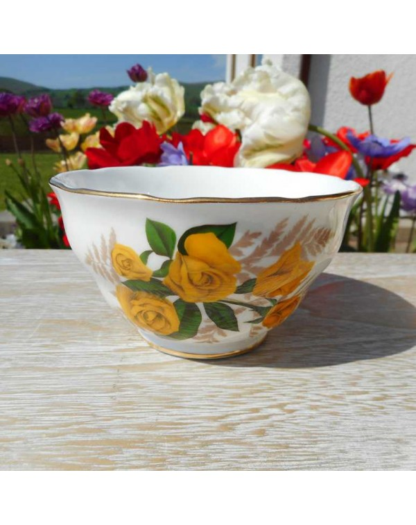 (OUT OF STOCK) YELLOW ROSE SUGAR BOWL