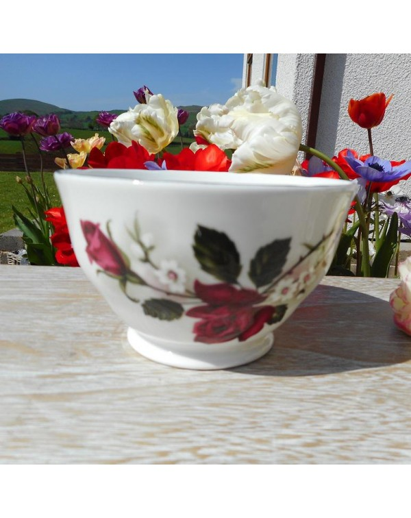 RED ROSE SUGAR BOWL