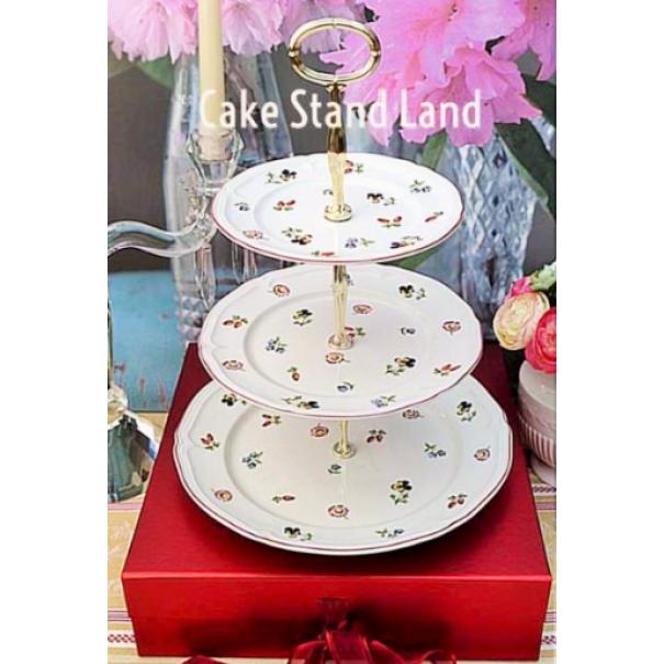 VILLEROY & BOCH PETITE FLEUR CAKE STAND