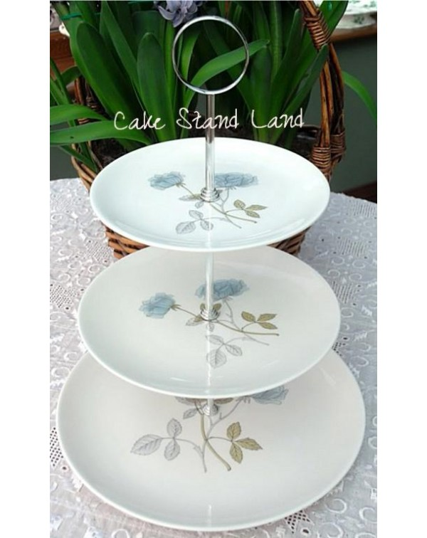 WEDGWOOD ICE ROSE CAKE STAND