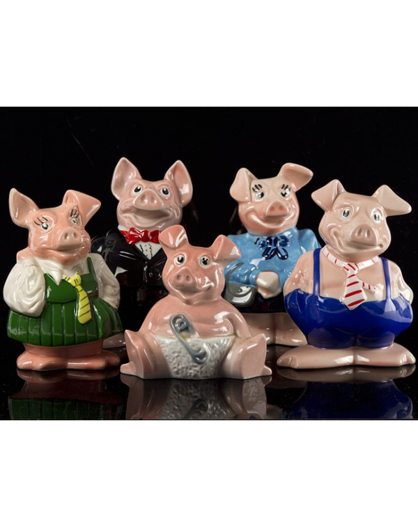 (SOLD) SET OF WADE NATWEST PIGS