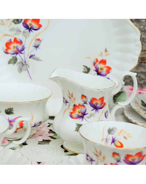(OUT OF STOCK) ROYAL ALBERT WATER MEADOW TEA SET