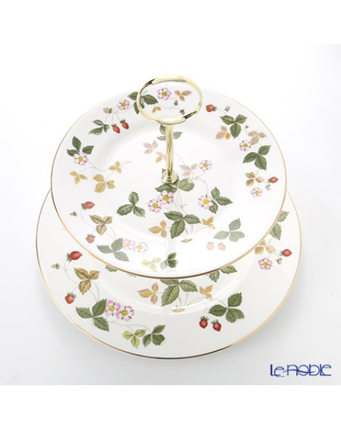 WEDGWOOD WILD STRAWBERRY CAKE STAND