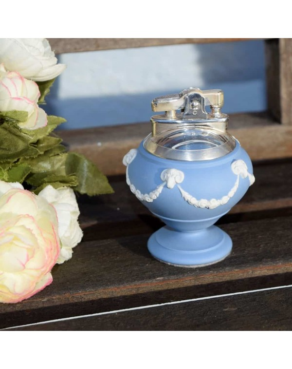 (SOLD) WEDGWOOD QUEENSWARE RONSON TABLE LIGHTER
