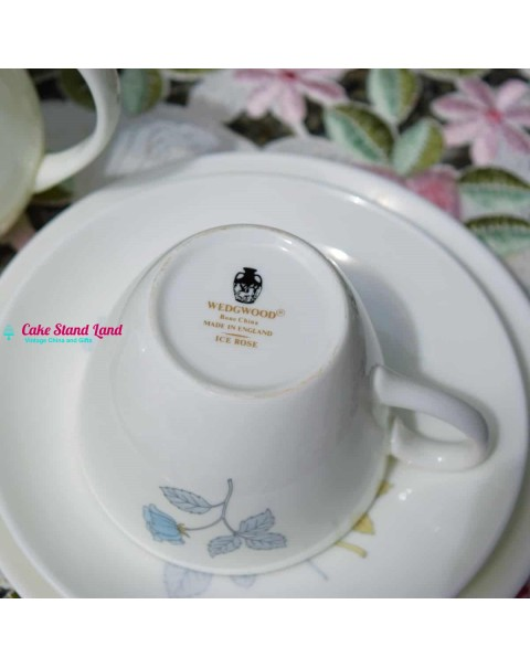 WEDGWOOD ICE ROSE TEA SET