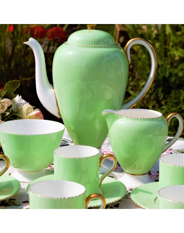 WEDGWOOD APRIL COFFEE SET FOR 6