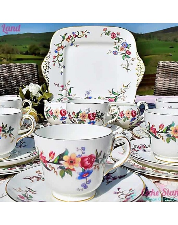 (OUT OF STOCK) WEDGWOOD DEVON SPRAYS TEA SET
