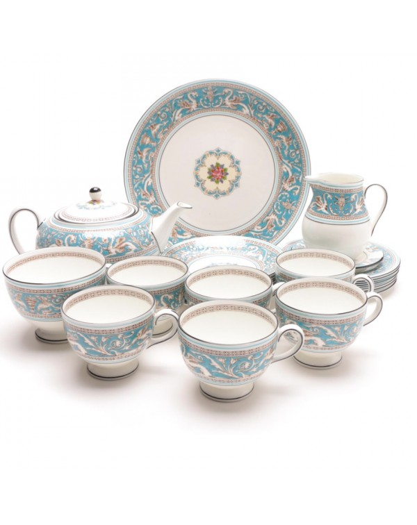 (WAITING FOR STOCK)  WEDGWOOD FLORENTINE TEA SET W...