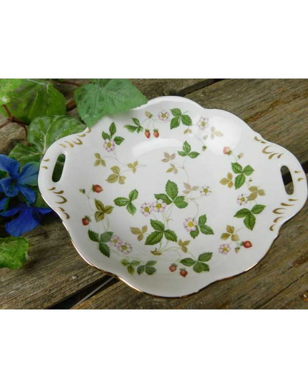 WEDGWOOD WILD STRAWBERRY HANDLED DISH
