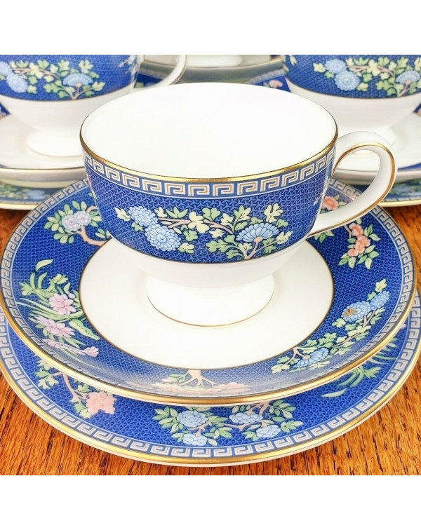 WEDGWOOD BLUE SIAM TEA TRIO