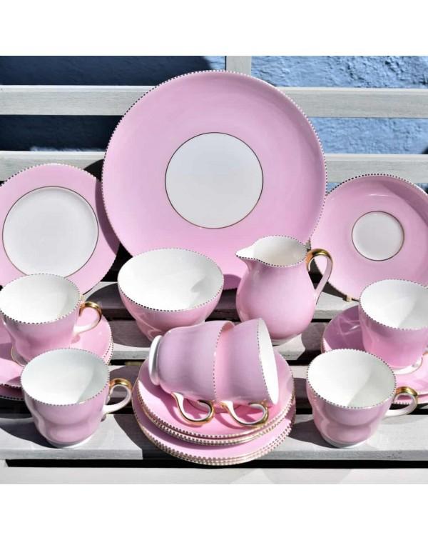 (SOLD) WEDGWOOD APRIL PINK TEA SET