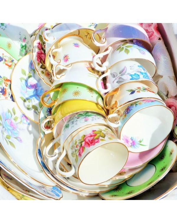 12 MATCHING TEA TRIOS