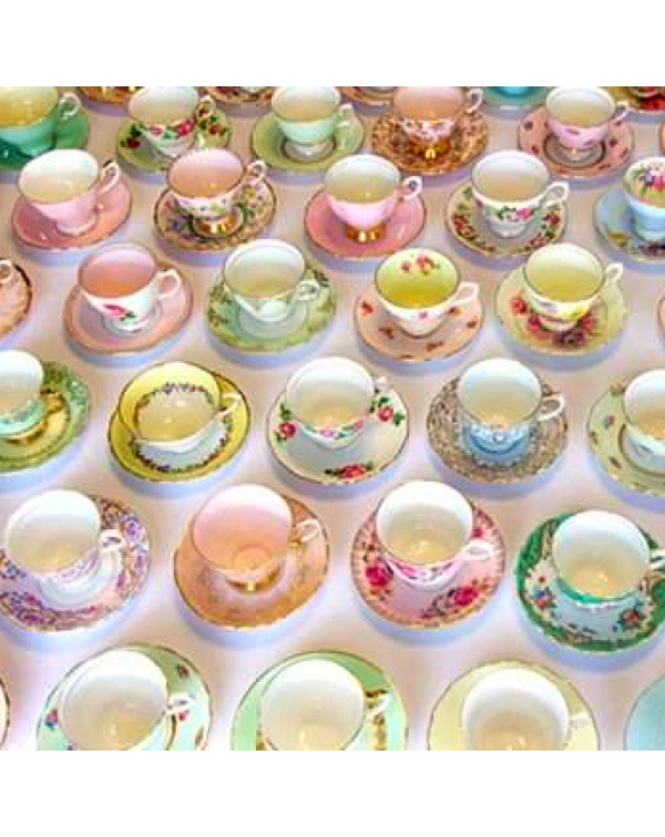 20 MATCHING CUPS & SAUCERS