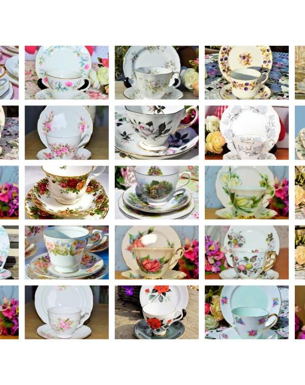 (SOLD) 30 ENGLISH VINTAGE TEA TRIOS