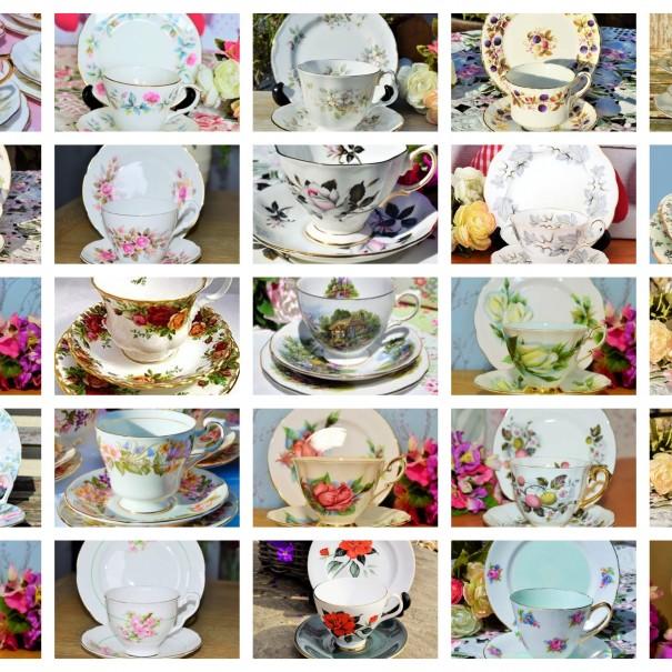 30 ENGLISH VINTAGE TEA TRIOS