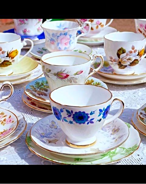 60 MISMATCHED TEA TRIOS