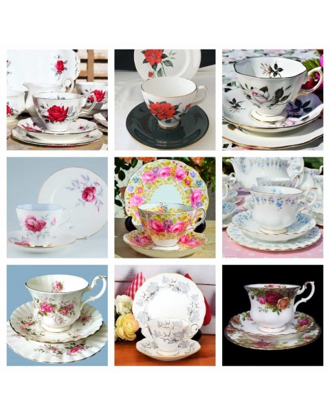 ROYAL ALBERT TRIOS SET OF 9