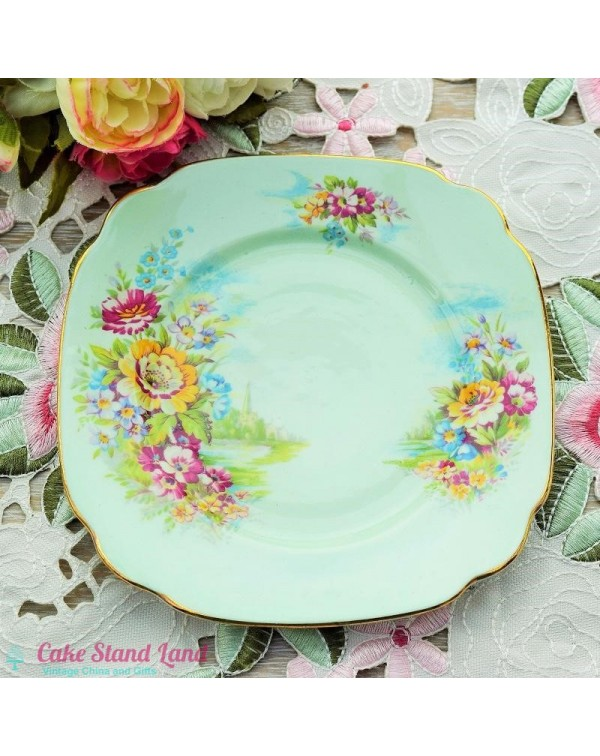 (OUT OF STOCK) WINDSOR CHINA FLORAL TEA PLATE