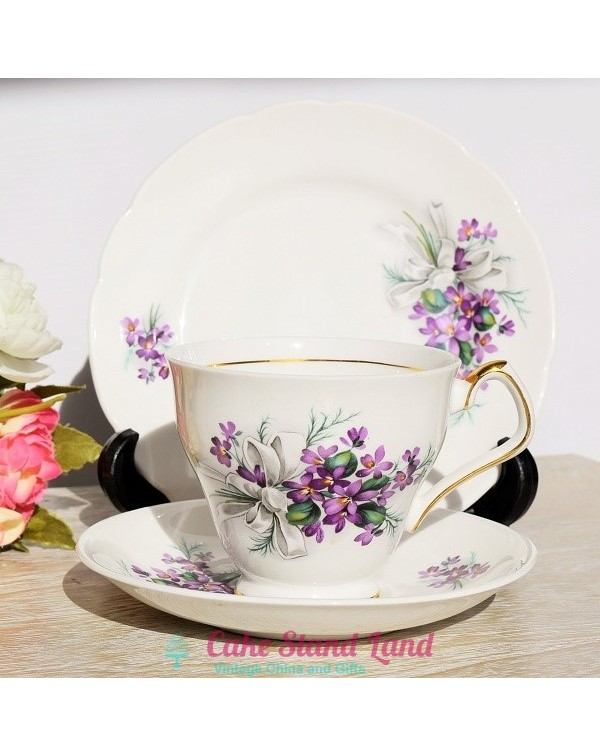 (OUT OF STOCK) ROYAL WINDSOR VIOLETS TEA TRIO
