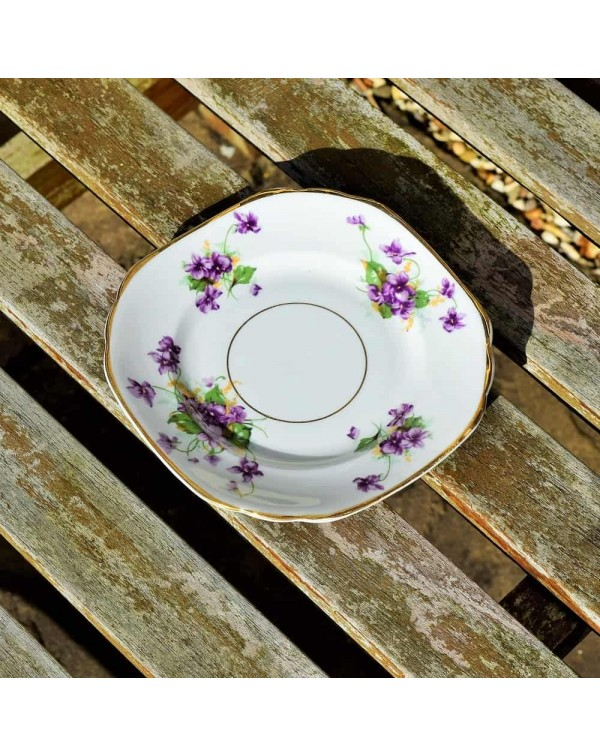 (SOLD) WINDSOR VIOLETS TEA PLATE