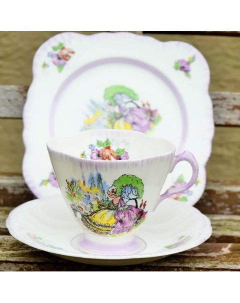 WINDSOR LAVENDER LADY TEA TRIO