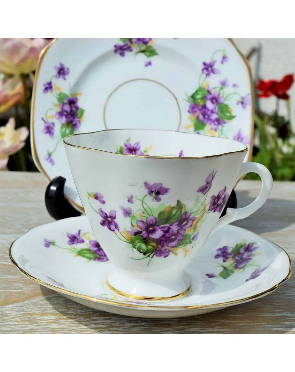 (OUT OF STOCK) WINDSOR VIOLETS TEA TRIO