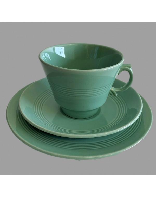 WOODS WARE BERYL GREEN TEA TRIO