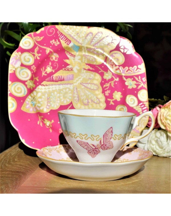 (SOLD( ZANDRA RHODES VINTAGE TEA TRIO