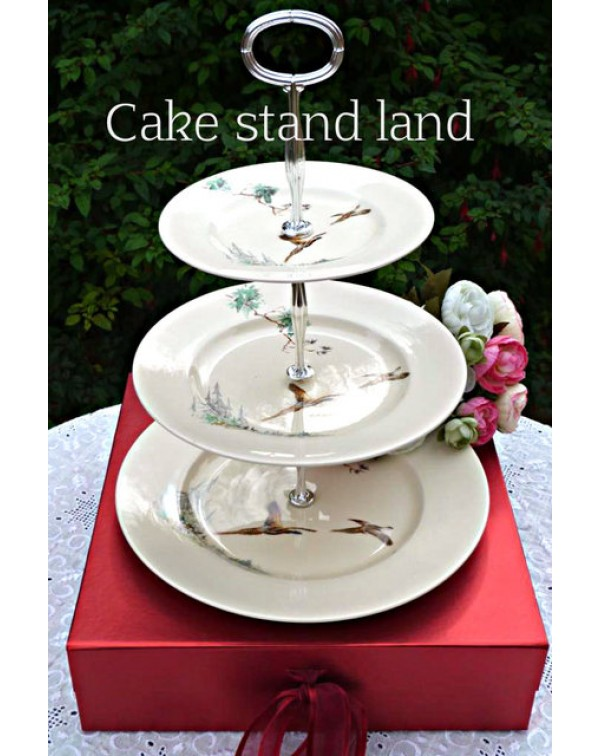 (OUT OF STOCK) ROYAL DOULTON THE COPPICE CAKE STAN...