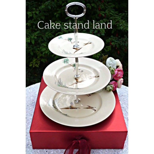 (OUT OF STOCK) ROYAL DOULTON THE COPPICE CAKE STAND