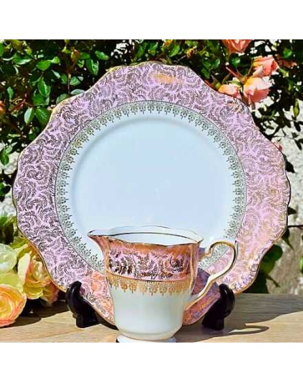 (OUT OF STOCK) ROYAL STAFFORD Chintz Cake Plate Se...