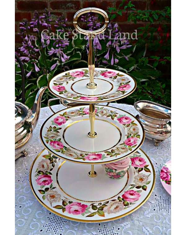 ROYAL WORCESTER ROYAL GARDEN CAKE STAND