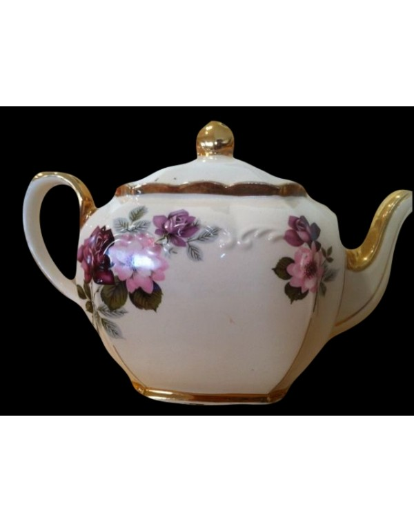 (OUT OF STOCK) SADLER FLORAL CUBE VINTAGE TEAPOT