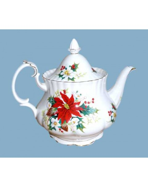 (OUT OF STOCK) ROYAL ALBERT POINSETTIA TEAPOT