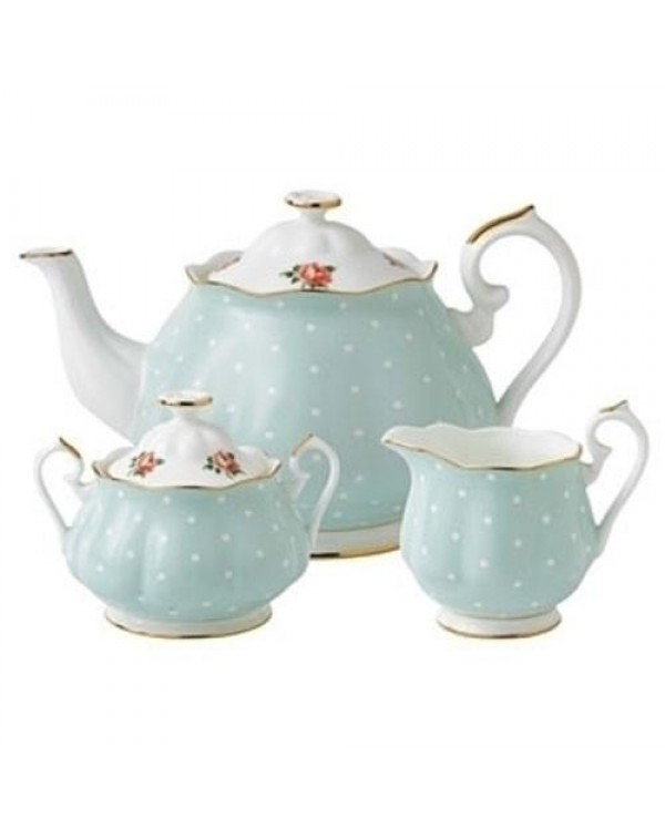 (OUT OF STOCK) ROYAL ALBERT POLKA ROSE NEW TEAPOT ...