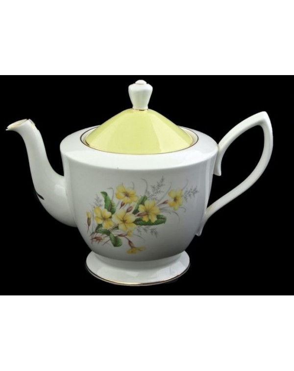 (SOLD) ROYAL ALBERT PRIMROSE LARGE VINTAGE TEAPOT